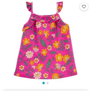 Floral/ruffle Crinkle Jersey Set